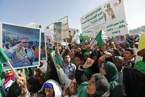 Gadhafi Supporters Counter Opposition's 'Day of Rage'